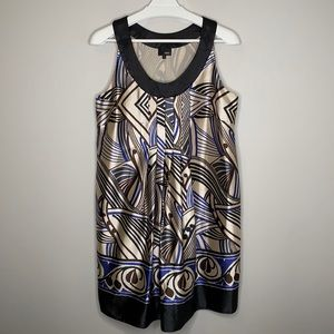 NEXT Gold and Black Printed Dress